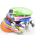 Effelon Braided Colorful USB Charging Sync Cord Data Cable for Iphone 5 5s 6 6s plus chargering wire 1M 2M 3M