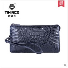 tihinco Alligator  men long zipper bag large capacity male clutches business hand bag leather bag men leather bag