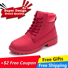 Fujin Brand spring fall winter Top Quality 11.11 Platform Boots Women Ankle Boots Rubber Boots female lady Botas shoes(China)