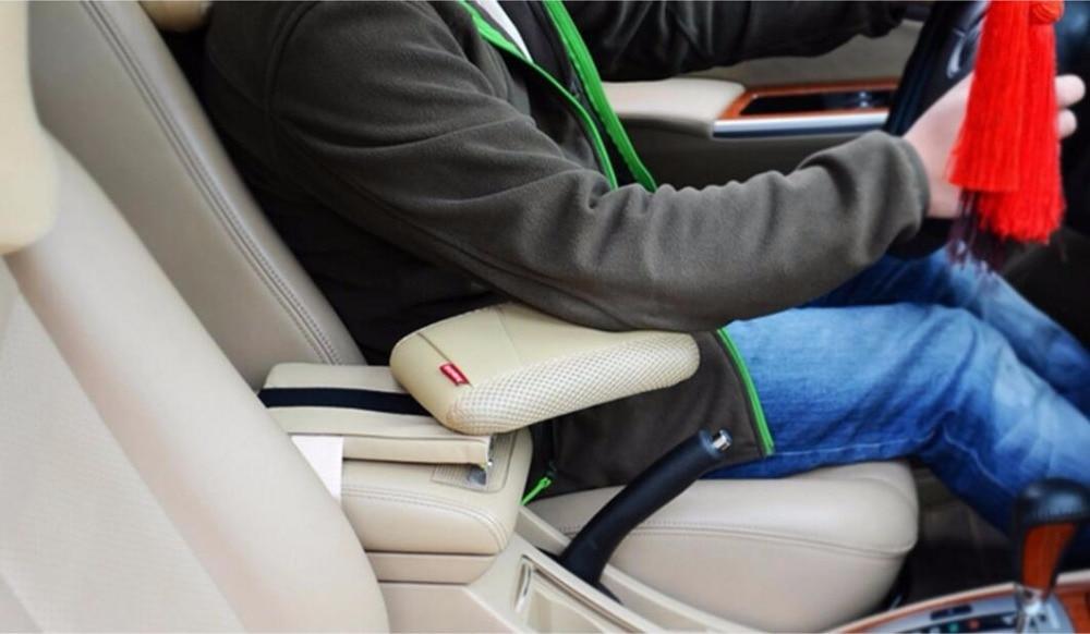 Black Center Console Armrest Storage Box Elbow Supporting for Audi Q3 Q5 Q7 2008-2016 7 generation car center console armrest storage box suitable for ford focus 2 focus 3 auto accessories