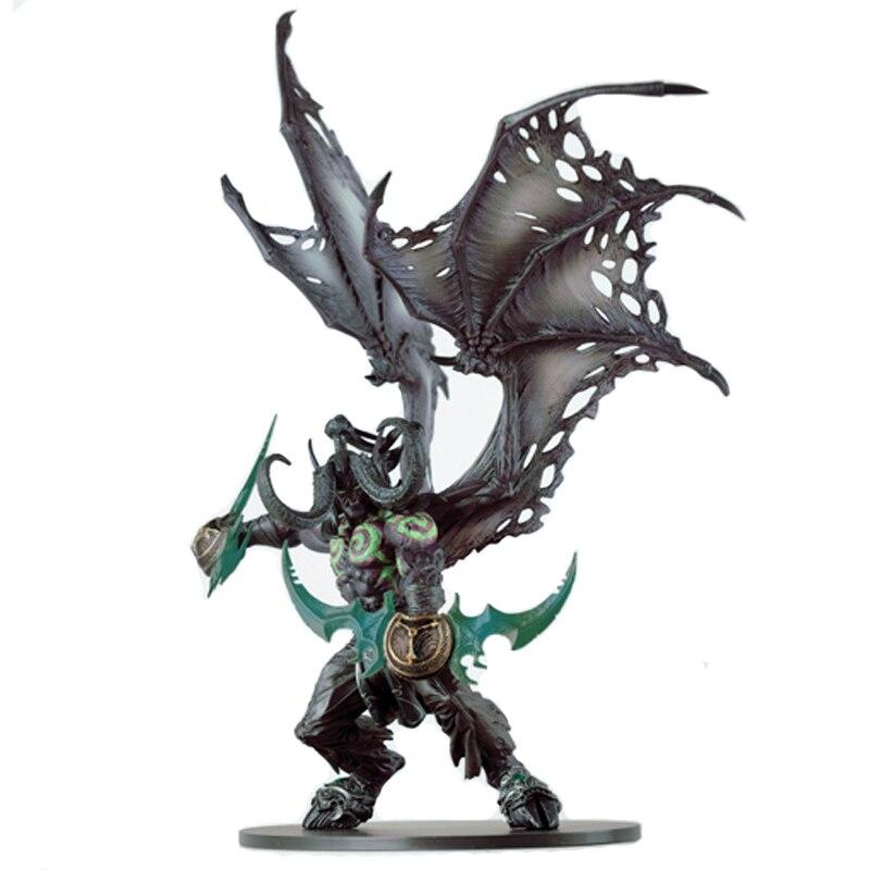 WOW Demon Form Illidan Action Figures Toys Dota 2 Demon Hunter PVC Collectible Figures Model Dolls