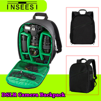 NEWEST Video Photo Camera Red Or Green Bag Multi Functional Digital Waterproof Backpack For Canon 6D