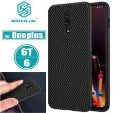 Oneplus 6 T Durumda OnePlus 6 Kapak Nillkin Sentetik Karbon Fiber PP Sert Plastik Manyetik Telefonu Çanta Kılıfları bir artı 6 T/6