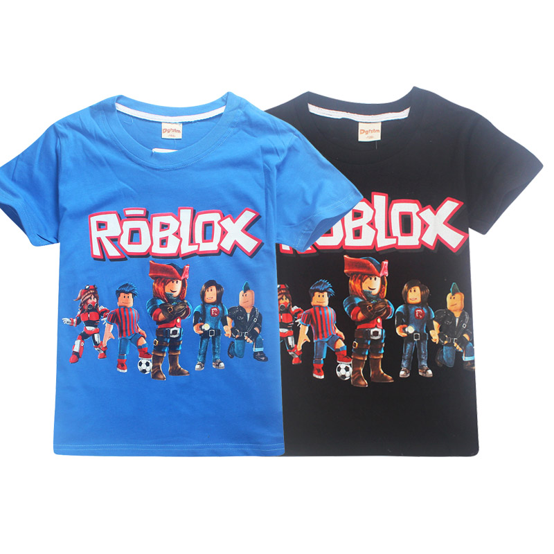 6-14y fortnite Summer Big Boys Girls Clothes Short Sleeve T Shirt for Children Roblox Printed Youtube Game Kids Boys Tops Shirts