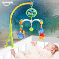 Huanger Bed Bell Musical Mobile Crib Bell Baby Toys Dreamful Bed Ring Hanging Rotate Bell Rattle Educational Toys with Bracket