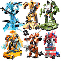 NEWEST Anime Series Transformation 5 Action Figure Toys Robot Car Tank Model Classic Cool Juguetes Model