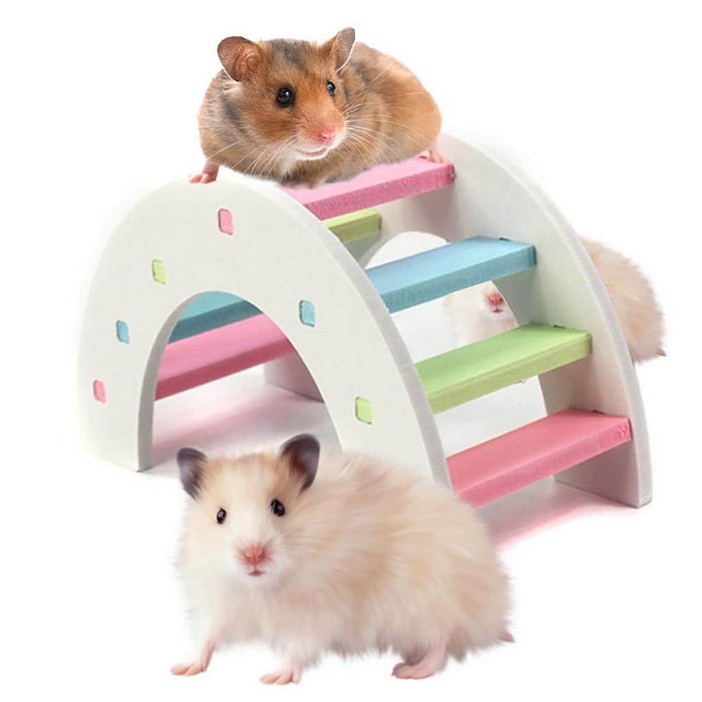 Betrouwbaar Nieuwe Mode Hamster Rainbow Bridge Speelgoed Voor Hond Kat Cavia Hamster Houten Fysieke Training Speelgoed Interactieve Huisdier Dispenser