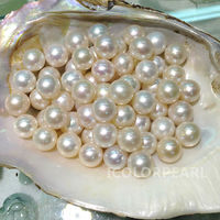 High Quality AAA 10 11mm Natural Round White Freshwater Pearl Bead Wholesale 5 Pcs Pack