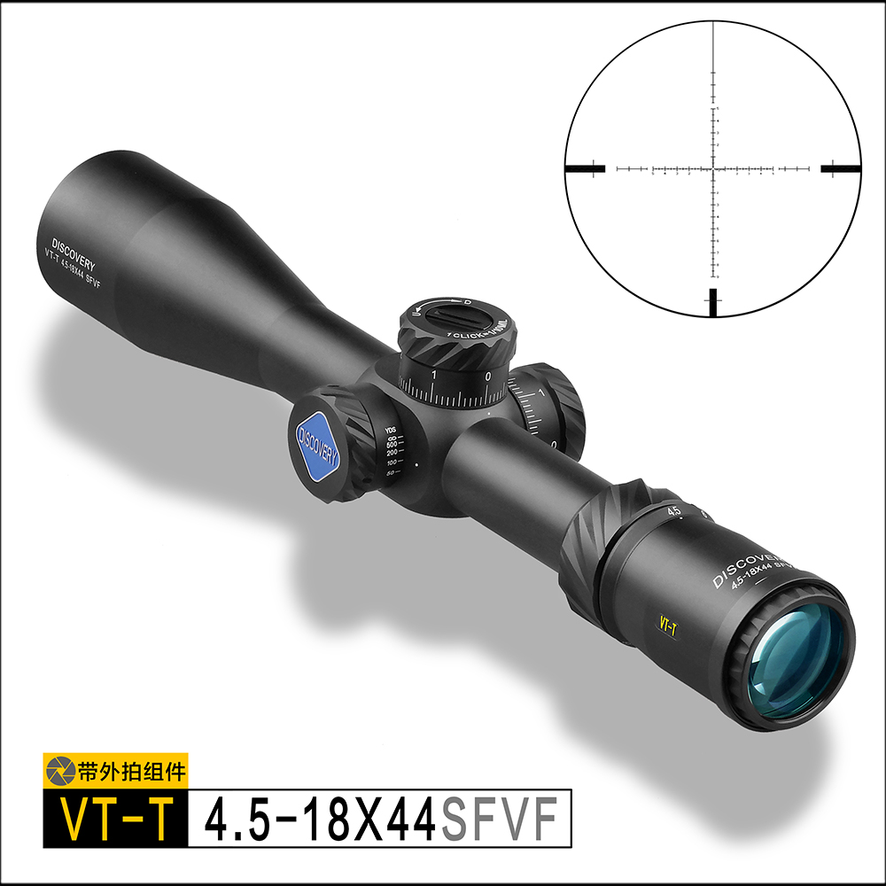 DISCOVERY Hunting Riflescope VT-T 4.5-18X44SFVF FFP With Rangefinder Reticl Special Phone Mount For Air Guns