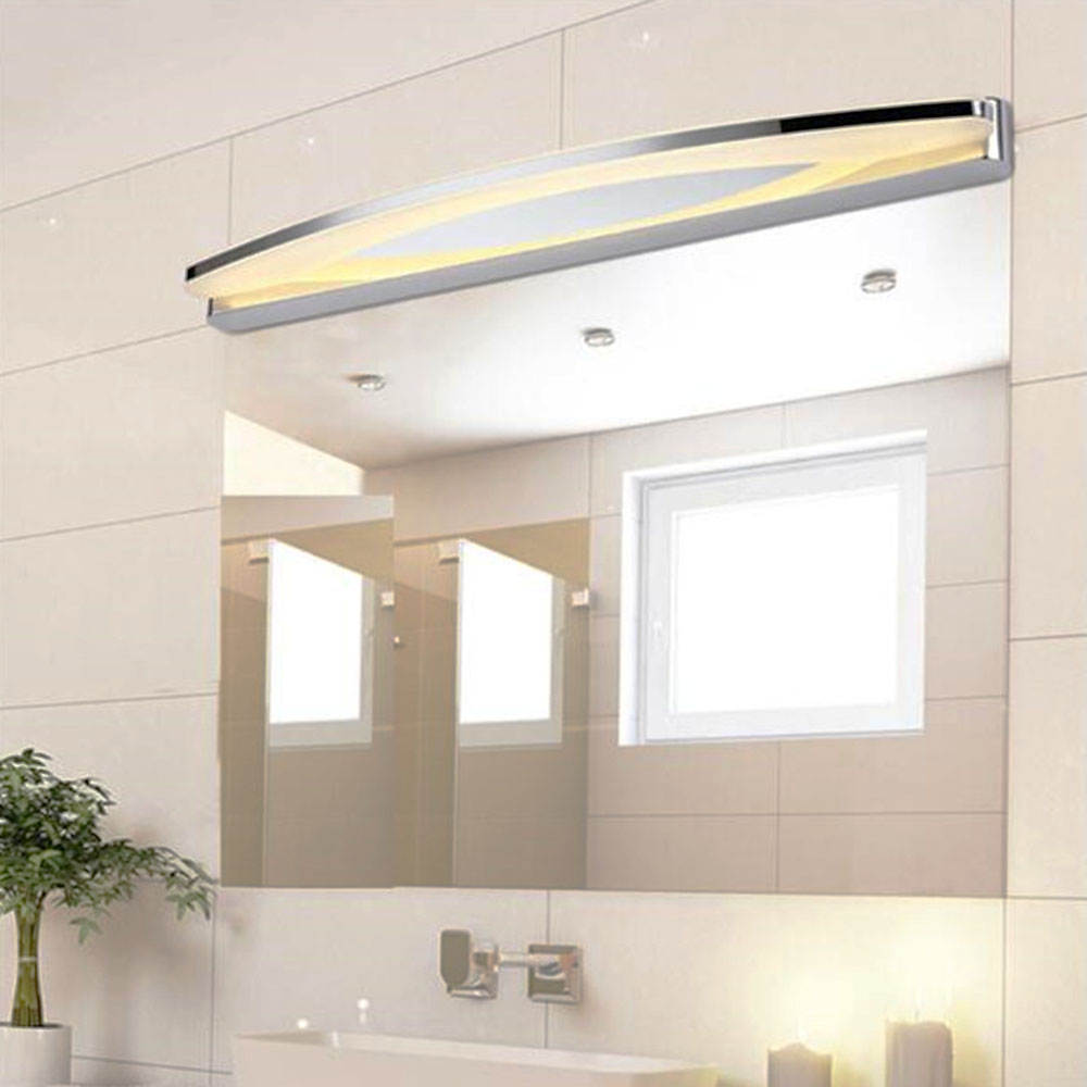 Crystal ledmirror light bubble crystal stainless steel bathroom mirror - Moon Led Mirror 8w 12w 15w 19w Front Light Waterproof Wall Lamps Modern Stainless Steel 110v