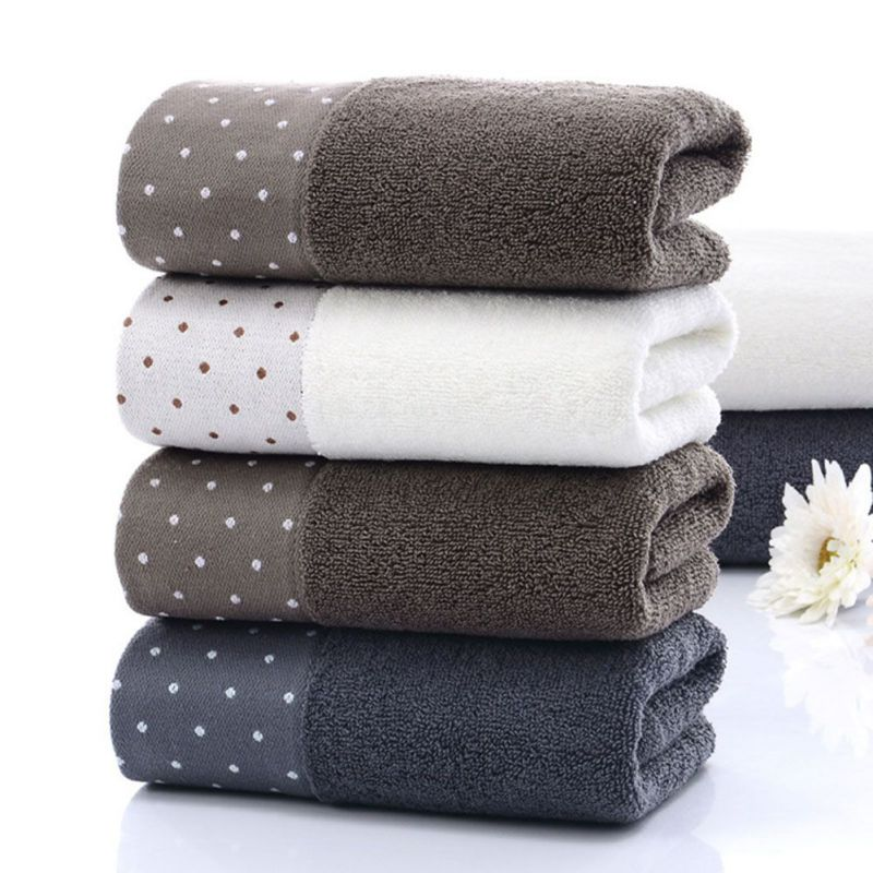 KKWL Dot Pattern Solid Towel For Bath Highly Absorbent Soft Towels For Bathroom And Gym Men Women Comfortable Face Towels 2Pcs