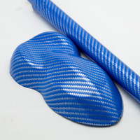 2D Carbon Fiber Car Body Film Glossy Blue Yellow White Black Vinyl Wrap Paper Styling Stickers for Interior Center Console
