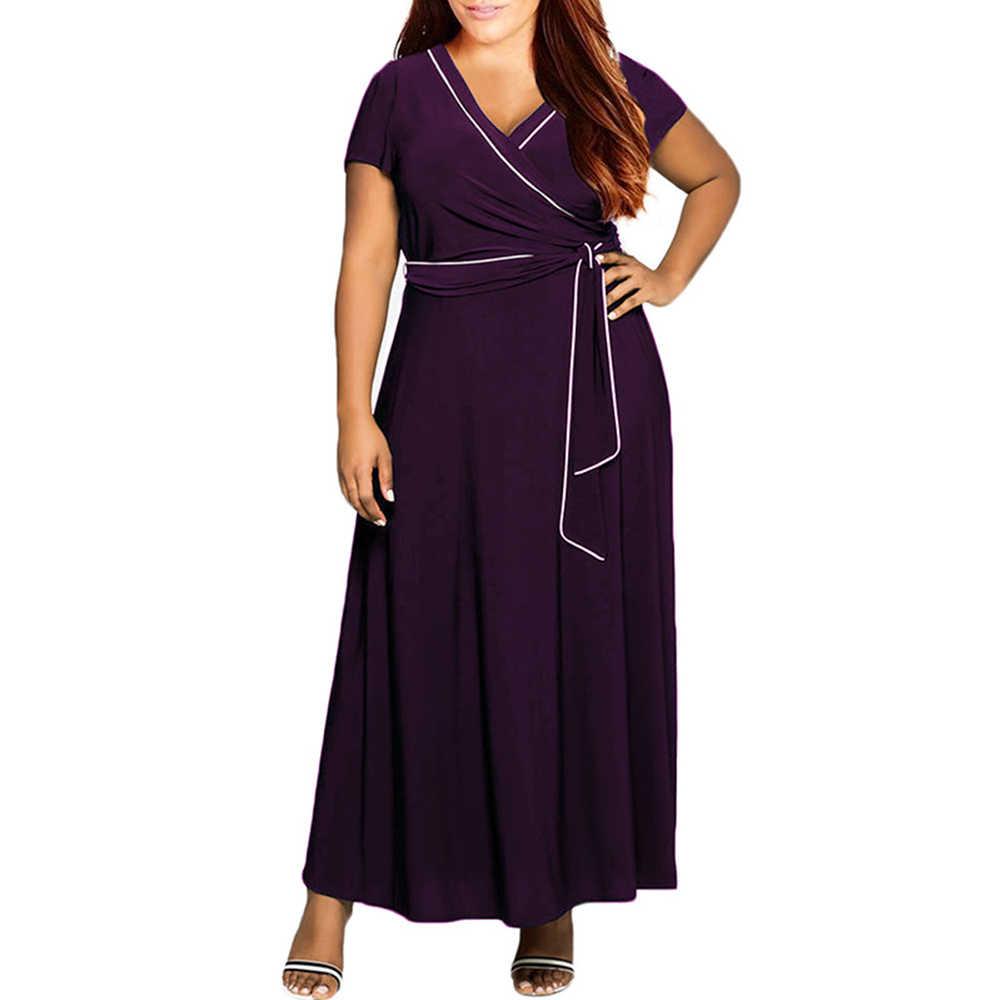 9f856da95d94 ... 3xl-8xl Big Size Woman Long Dress Plus Size Vintage Swing Dresses with  Sashes 2018 ...