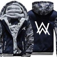 USA SIZE Men S Hoodies Sweatshirts Rock Band Alan Walker Printed Winter Fleece Thicken Hoody Coats