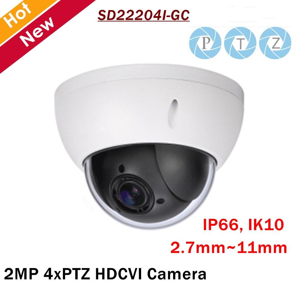 DH PTZ Caméra SD22204I-GC 2MP 1/2. 7 cmos 4x PTZ HDCVI Caméra 2.7mm-11mm Longueur Focale pour ip Extérieure caméra de sécurité cam