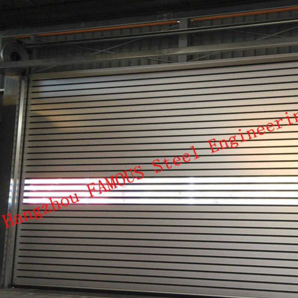 Indoors PVC Fast Acting Rapid Rise Door And Outdoors Hard Metal High Speed Rolling Up Shutter Doors
