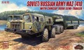 Modelcollect UA72048 1/72 Russian Army MAZ-7410 with ChMZAP-9990 Semi-Trailer