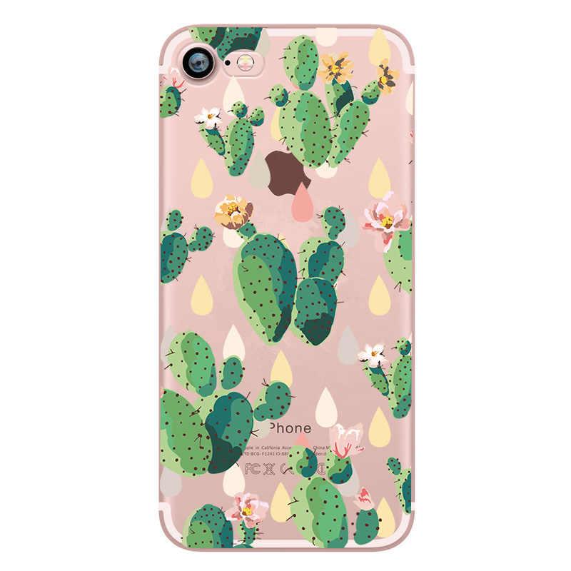 Leaf นุ่มโทรศัพท์กรณีสำหรับ iphone X 7 8 Plus 5 วินาที SE Capinha ดอกไม้ซิลิคอนปกหลัง Funda Coque สำหรับ Apple iphone 6 6 S XS Max XR