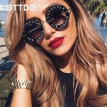 retro round sunglasses women English letters bee brand designer sun Glasses men glasses Oculos De Sol Feminino