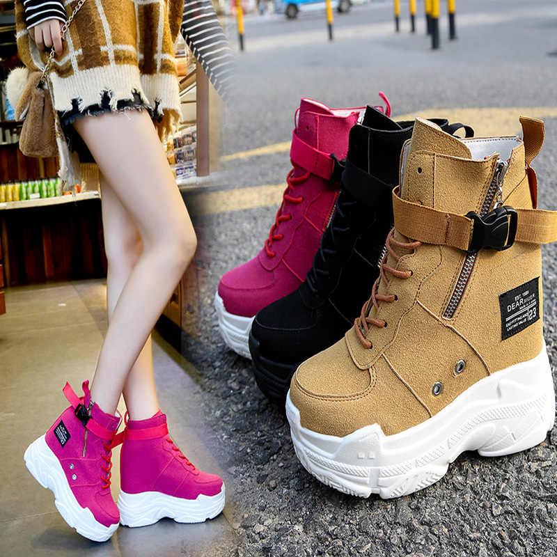High Heel Women/'s High-top Heels Platform Casual Sneakers Trainers Shoes Spring