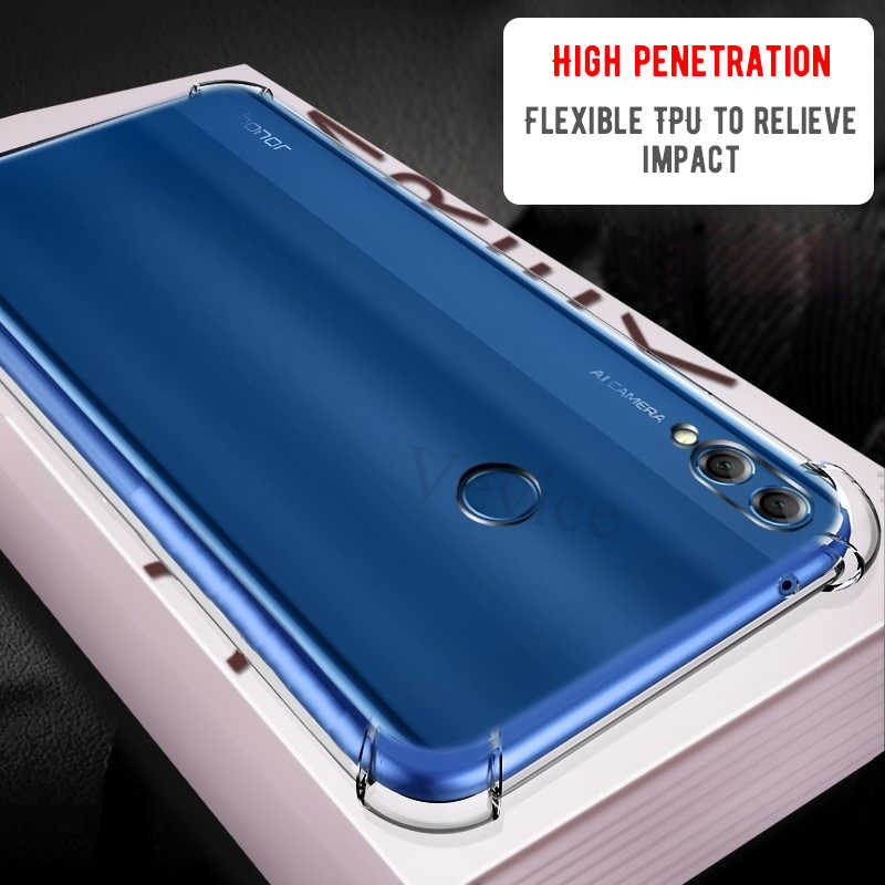Phone Case For Huawei Honor 8X Max 8C 10 9 8 Lite Play P30 P20 Mate 20 X 10 Lite Pro Nova 4 3i Y9 P Smart 2019 Soft Airbag Cover