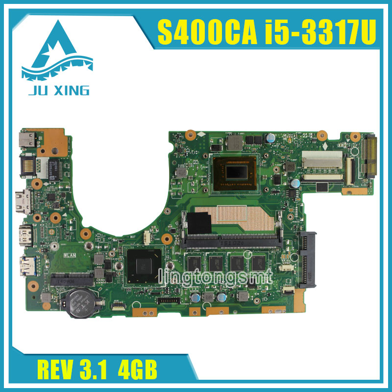 Original for ASUS S500C S500CA laptop motherboard S400CA REV3.1 Mainboard processor i5 4G Memory fully tested original new laptop motherboard for asus k52jc rev 2 1 ddr3 n11m ge2 s b1 mainboard