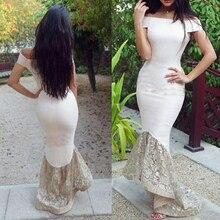 Chic Hi-Lo Mermaid Bridesmaid Dresses Off the Shoulder Wedding Party Gowns Hilo Maid Of Honor Dress 2016 Junior Bridesmaids