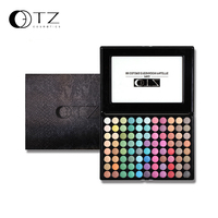 TZ Brand 88 Colors Eyeshadow Palette Easy To Wear And Long Lasting With Brushes Inside Earth