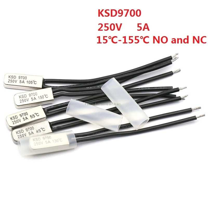 KSD9700 250V 5A 15~155 Degree Bimetal Disc Temperature Switch Normal Close Closed Thermostat Thermal Protector