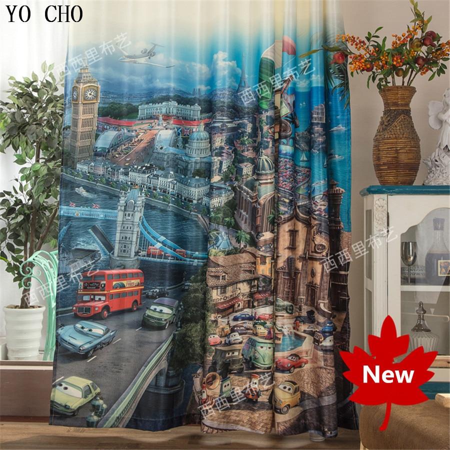 Kid car curtains - Fashion 3d Curtains Blackout Curtains Carton Car Child Kids Drapes For Livingroom Bedroom Window Door Wall
