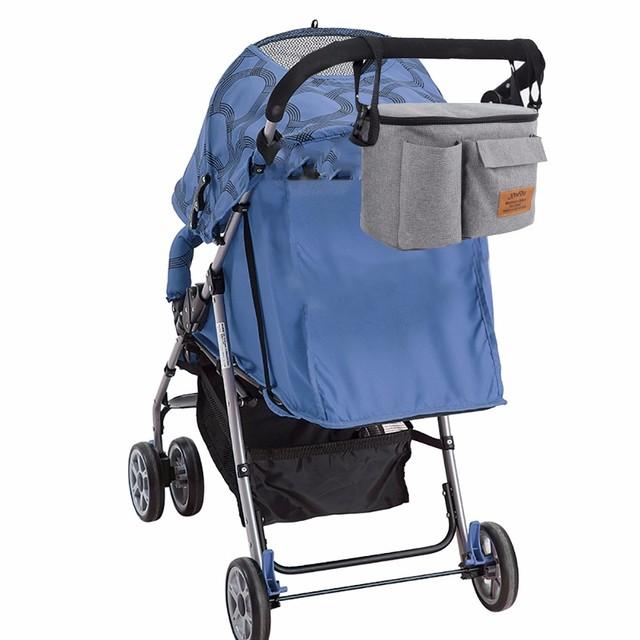 Baby Stroller Organizer Bag For Baby Stuff For Mom Travel Hanging Carriage Pram Buggy Cart Bottle Bag Stroller Accessories