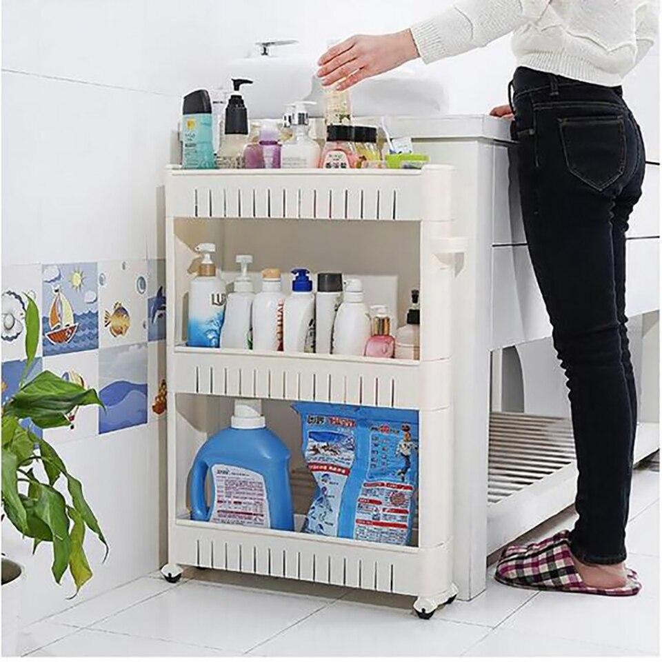 3 Layer Shelf Side Fridge Narrow Space Slim Pantry ...
