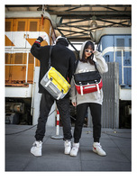 New Large capacity Men's Cycling Bag Fashion Trend Harajuku Ins Female Bag Casual Couple Shoulder Messenger Bag