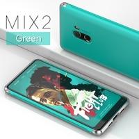 GINMIC Brand Case For Xiaomi Mi MIX 2 Luxury Aluminum Alloy Bumper Hard PC Back Cover