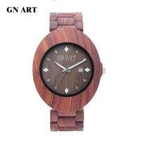 שעונים לגברים, בעבודת יד שעון יד גברים עם שעון גבר מתנה מעץ רצועת 2018 שנה החדשה
