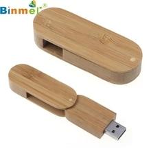 Top Quality 4GB Rotation Wood USB2.0 High Speed Flash Storage Drive Memory Stick Light Weight U-Disk MAY24