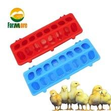 Roșu Albastru Culoare Păsări Feeder Cupa Flip Top Pâine Alimentator Fâșia Pământului Instrument de Agricultură Buză de alimentare fazan