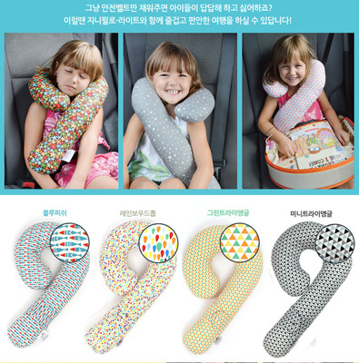 Car Children Neck Pillow Comfortable Cotton Travel Pillow For Children Adults Nap Sleeping Head Neck Shoulder Support 1 Pcs