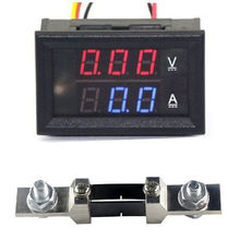 DC 0-300V 200A Voltmeter Ammeter + 200A Shunt Digital LED Voltage Current Panel Meter FOR 12V 24V CAR battery