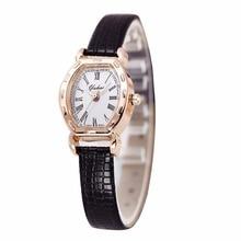 New Brand Luxury Women Watches Gold Plated Quartz Watch Women Dress Watches High Quality PU Leather Clock montre femme