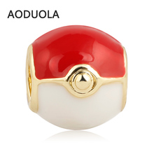 Gold Metal Plated Pokeball DIY Spacer Bracelet