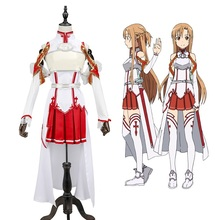 New Anime Sword Art Online Cosplay Costume SAO Yuuki Asuna Fancy Dress Halloween Adult Costumes for Women S-XL