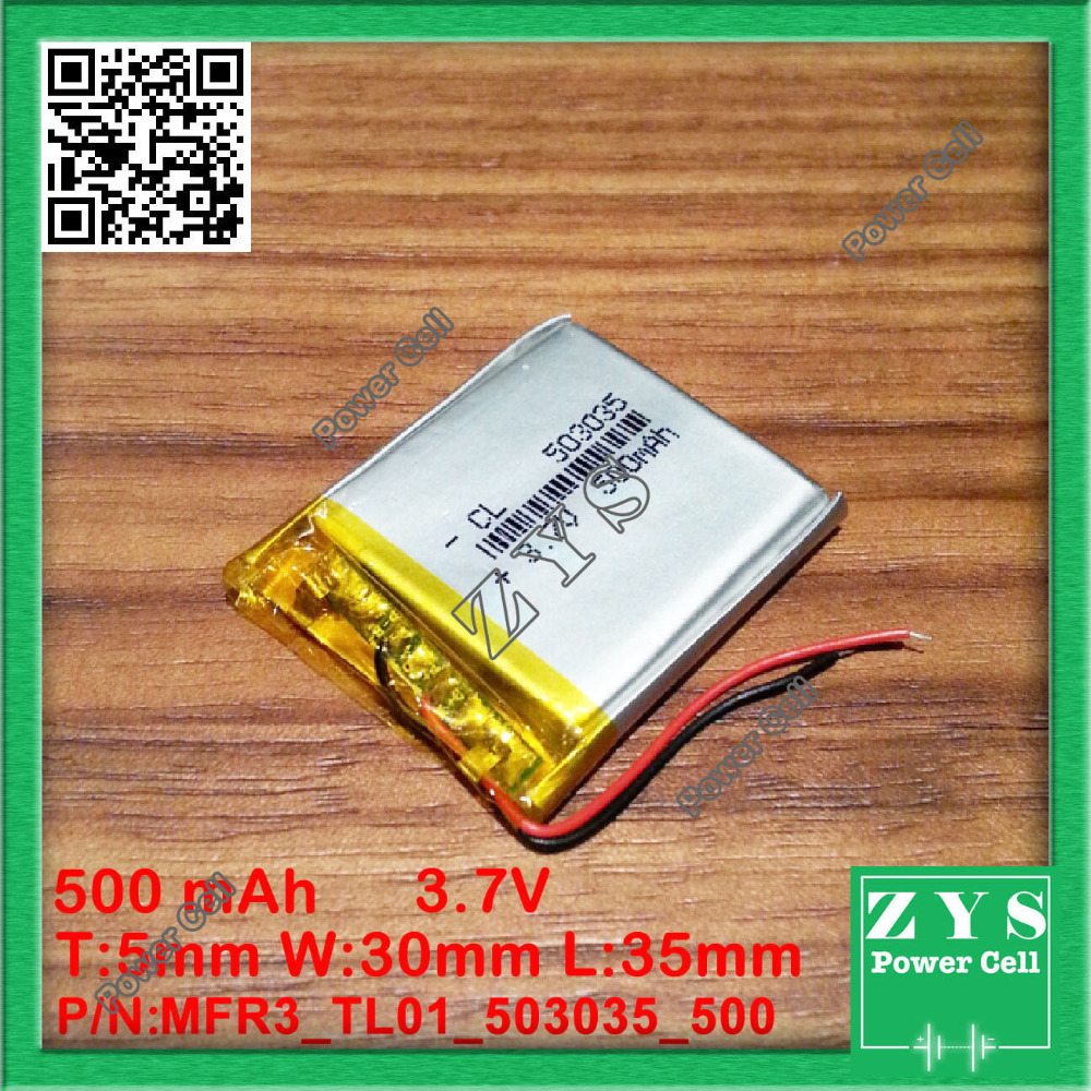 503035 3.7V 500mah Lithium polymer Battery with Protection Board For PDA Tablet PCs Digital Products 500mAh 5x30x35mm <font><b>053035</b></font> image