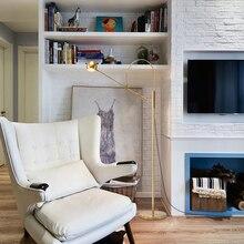 Nordic Creative designer Post modern Living room Floor lamp Plated Gold bedroom Iron art standing lamp LED G9 lighting fixture