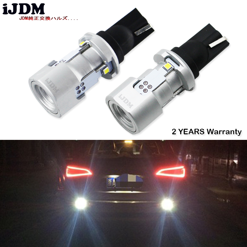 iJDM Car W16W LED Exclusive Designed CAN-bus Error Free Xenon White 912 921 T15 LED Backup Light Bulbs For Audi Q3 Q5 Q7 12v katur 2pcs t15 w16w led reverse light bulbs 920 921 912 canbus 4014 45smd highlight led backup parking light lamp bulbs dc12v