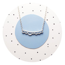 30PCS- N120 Ocean Wave Bar Necklace Open Cloud Necklaces Scalloped Beach Pendant Necklaces Simple Geometric Chevron V Necklaces цена 2017