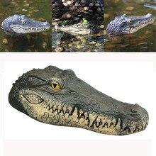 Плавающая голова крокодила, водяная садовая приманка, пруд, художественный декор для гусиного управления, для домашнего сада, классическое садовое украшение