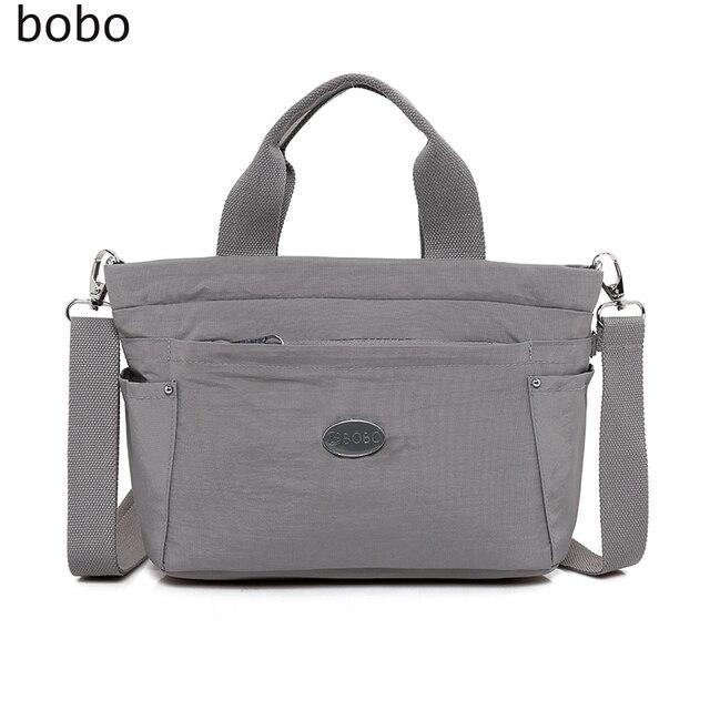 Bobo Brand Cute Casual Women Messenger Bags High Quality Nylon Tote Handbags School Shoulder Bag Bolsas