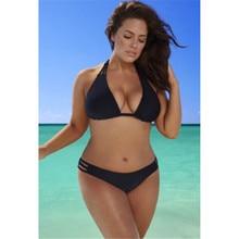 9f75f471e8647 Sexy Women Plus Size Swimwear Bikini Halterneck Bandage Padded Triangle  GLANE
