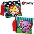 Кэндис го! самое новое прибытие Sassy милый мультфильм животных красочные обезьяна слон ткань книга безопасный зеркало детские игрушки подарок 1 шт.